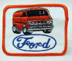 FORD VAN orange.  vintage jacket patch.  mint - $11.00