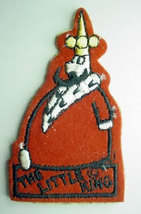 LITTLE KING cartoon character FIGURAL vintage jacket patch - $16.50