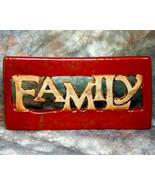 Ceramic Family Shelf Sitter Sign - $7.95