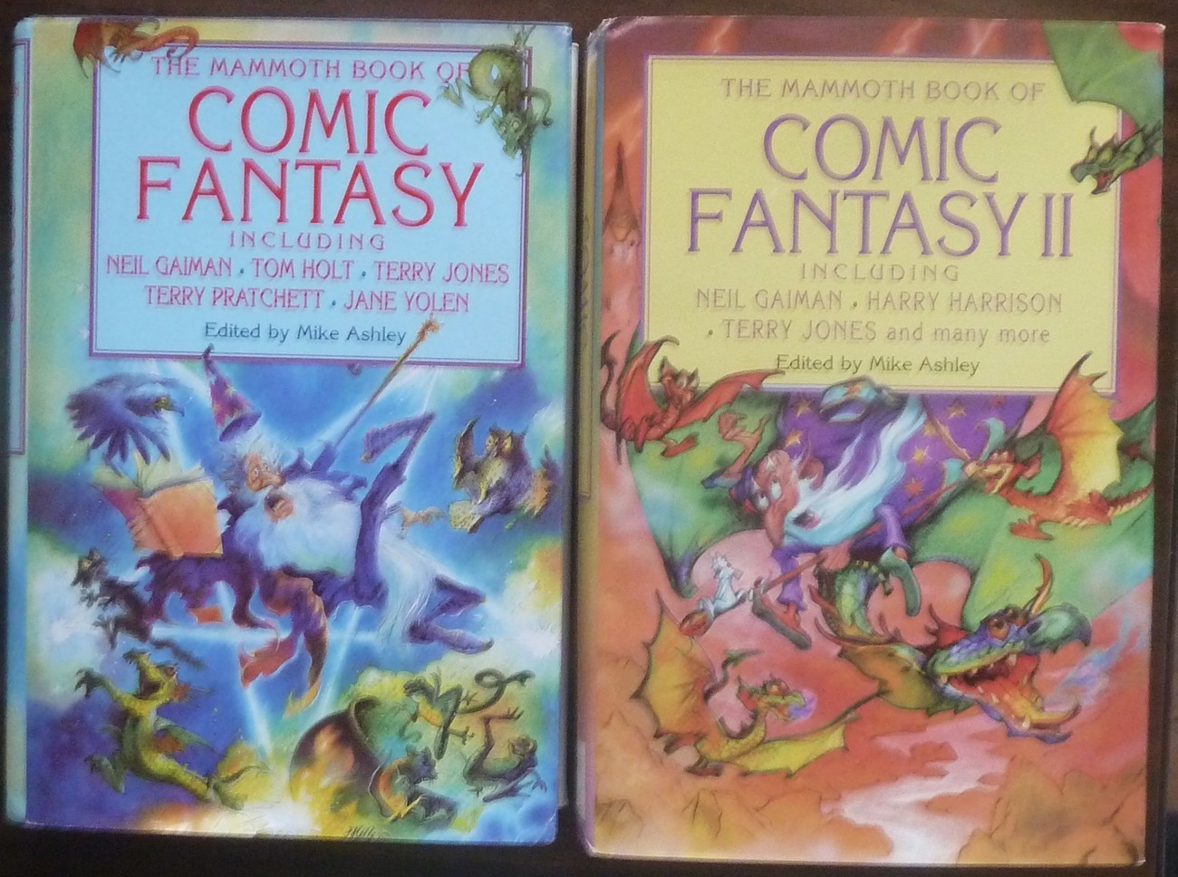 The Mammoth Book of Comic Fantasy volumes I and II Edited by Mike Ashley