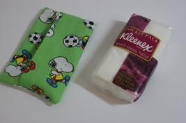 Snoopy Kleenex Tissue Case Cover Holder Fabric Free Ship Handmade Handsewn - $3.50