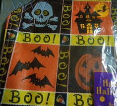 Set of 4 Halloween Placemats Skull Crossbones Bats Spider Ghost Jack-o-lantern  image 2
