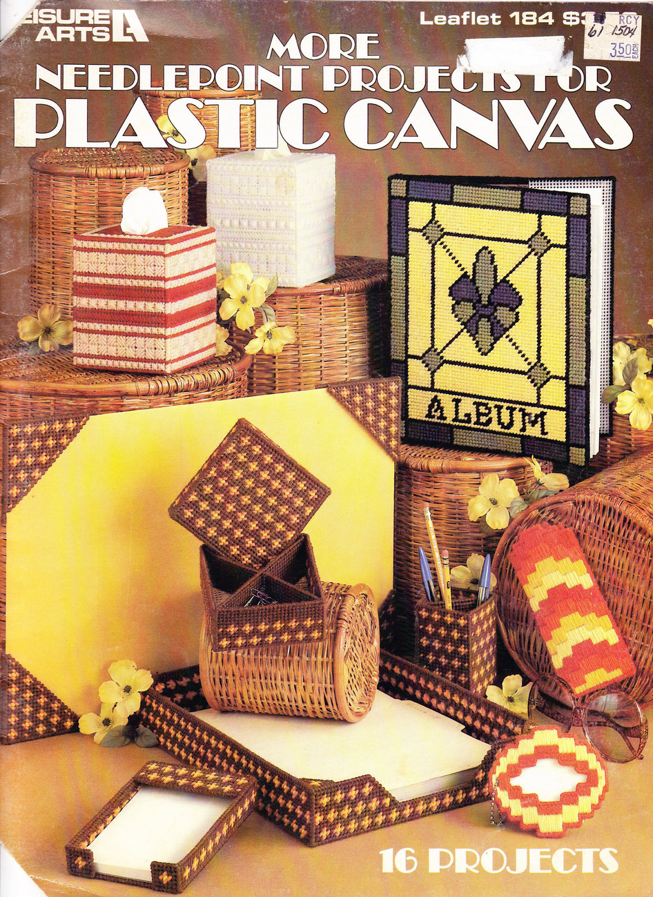 MORE NEEDLEPOINT PROJECTS FOR PLASTIC CANVAS LEISURE ART 184 FREEBIE SEE DETAILS - Freebie