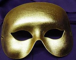 Mardi Gras Mask GOLD Metallic Half face mask - $8.25