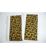 Burp Pads Cloths Leopard Handsewn Designer Fabric Set of 2 - $12.00