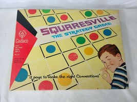 Vintage Squaresville The Strategy Board Game 1968 Cadaco Complete - $41.21