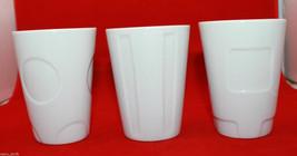 Set of 3 Starbucks Coffee 2008 New Bone China White Ivory Coffee Tea  Mug Cups - $41.09