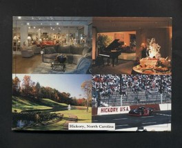 Postcard Hickory NC Speedway Rock Barn County Club Catawba County NASCAR - $4.59