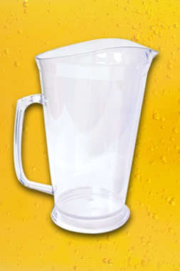 12 NEW 60 oz CLEAR PLASTIC PITCHERS tall bar supplies