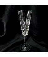 "Cristal D'Arques Venice Champagne Flute 8.5"" Crystal Glass Fan Criss-Cro... - $8.91"