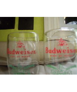 Budweiser Christmas Keg Style Glasses with Holly Trim-Vintage - $28.00