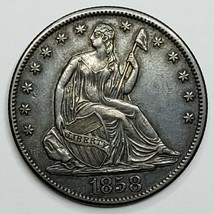 1858O Seated Liberty US Silver Half Dollar Coin Lot 519-125