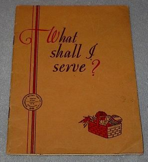 Primary image for Rumford What Shall I Serve Recipe Cookbook 1931 Jewish