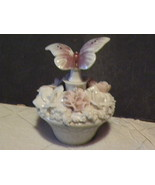 Perfume Bottle Flower Basket Butterfly Irice Ce... - $30.00