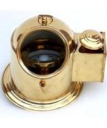 Handmade Brass Helmet Compass Vintage Ship Oil Lamp Decorative Nautical ... - $63.70