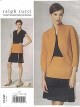 Vogue 1437 Ralph Rucci Pattern Jacket, Top, Skirt Misses Size 14-22 Uncut - $22.30