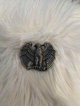 Vintage Perched Bald Eagle Pewter Small Avon Belt Buckle - $11.87
