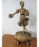 Blatz Back bar Valerie Mädchen Statue G.Heileman Gär Co.50.8cm Display Sign - $273.49