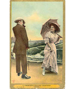He Is Smitten Vintage Post Card - $5.00