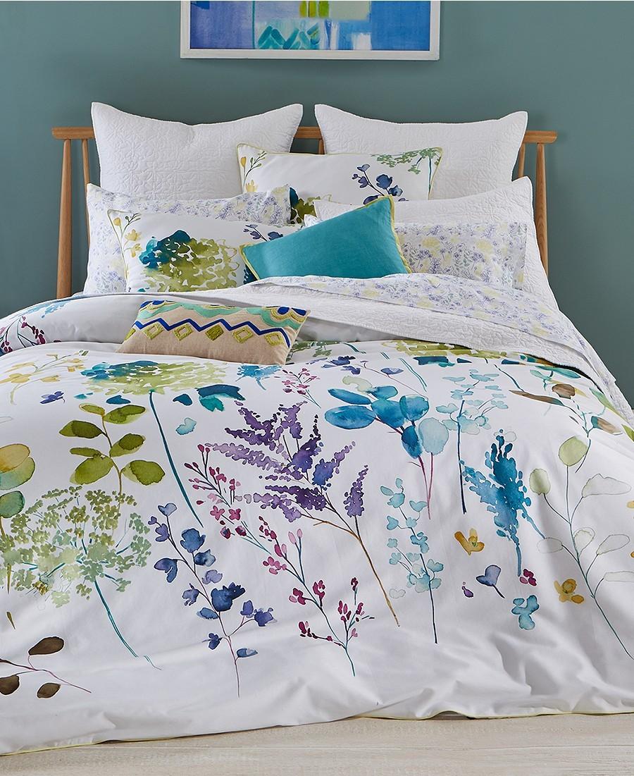 botanical garden cotton 2 pc twin twin xl duvet cover set brand new duvet covers. Black Bedroom Furniture Sets. Home Design Ideas