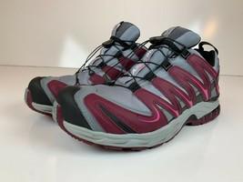 Salomon sz. 10.5 XA Pro 3D Waterproof Trail Running Shoes Womens Pink Gray EUC - $103.95