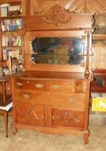 Quartersawn Oak Carved Sideboard Buffet Hutch - $1,956.01