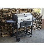 Charcoal Grill BBQ Barbecue Dual Chamber Steel Outdoor Cooking Patio Bac... - $357.33
