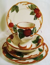 Vtg Franciscan Apple 5 Pc 1 Egg Cup 1 Bowl 2 Salad 1 Dessert - $33.24