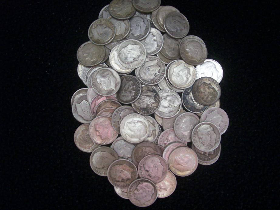 20 Mixed Silver Roosevelt Dimes