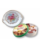 Cookie Tin Set large Dollhouse Reutter Dresden Rose NRFB - $14.50