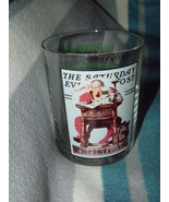 The Saturday Evening Post Norman Rockwell Glassware Collection Santa Rea... - $9.95