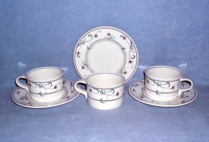 Primary image for Mikasa Intaglio Annette CAC20 3 Cup and Saucer Sets