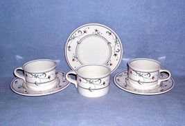 Mikasa Intaglio Annette CAC20 3 Cup and Saucer Sets - $10.99
