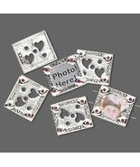 Silver Plate SWAROVSKI Red Siam Photo Frame Spacer Beads   - $4.95
