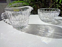 Crystal Clear Heirloom Pattern Small Cream & Sugar Set c 1970's - $23.75