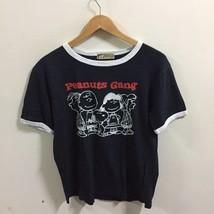 Peanuts Gang Black t-shirt Size M Charlie Brown Snoopys Medium - $24.74