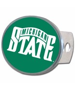 """Michigan State Spartans 1 1/4"""" - 2"""" Solid Metal Oval Hitch Plug Receiver... - $19.95"""