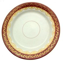 Staffordshire Maroon and Gilt 8001 1008 7 Inch Plate - $10.18