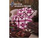 Ohio Star Afghan & Pillow Pattern Annies Attic Crochet Quilt & Afghan Club