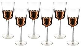 Fine 16 OZ Multi-purpose Wine or Water Glasses with Copper Fish Scale Fi... - $37.18