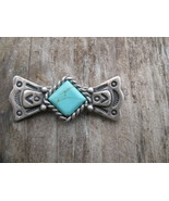 Carolyn Pollack Sterling Silver Turquoise Bar Brooch Southwest Pin - $26.00