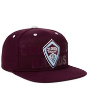 NWT New Colorado Rapids adidas MLS Academy Maroon One Size Snapback Hat Cap - $23.71