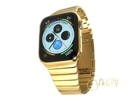 24K Gold Plated 44MM Apple Watch SERIES 4 With Gold Link Band - $1,136.29