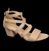 Chase + Chloe Womens Morgan Gladiator Sandal Size 6 Man Made Upper Beige NEW - $32.66