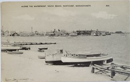 Along the Waterfront South Beach Nantucket, Massachusetts vintage Postcard - $3.95