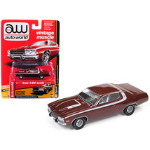 An item in the Toys & Hobbies category: 1974 Plymouth Road Runner Burnished Red Poly with White Stripes Auto World's Pre