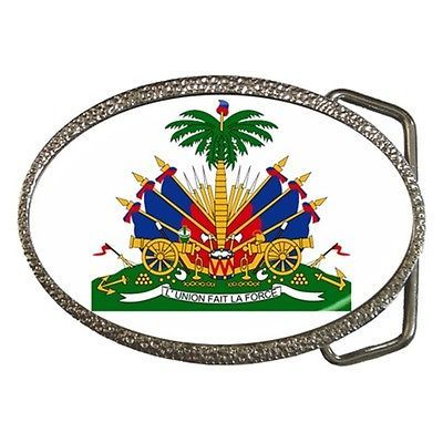 Haiti Coat of Arms Belt Buckle Haitian