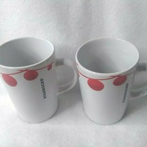 STARBUCKS 2012 Holiday Christmas Coffee Mugs White - $20.12