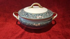 Ralph Lauren Annalia Covered Vegetable Serving Bowl Teal floral FREE SHIPPING - $157.41