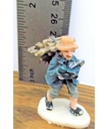 Christmas Village Accessory A Man with a Bundle of Firewood VGCondition ... - $6.92